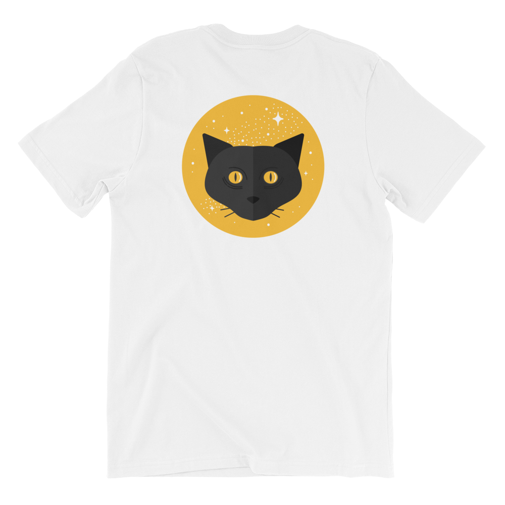 Black Cat Short Sleeve Unisex T-Shirt