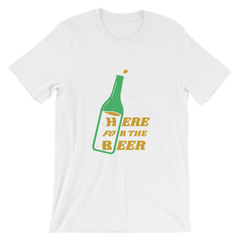 St.Patrick's Day Here for the Beer Short-Sleeve Unisex T-Shirt (Multiple Colors)