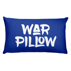Domo & Crissy War Pillow Blue