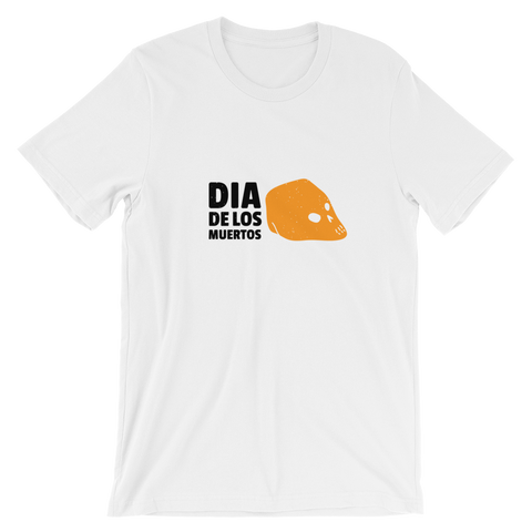 Orange Skull Dia De Los Muertos Short-Sleeve Unisex T-Shirt