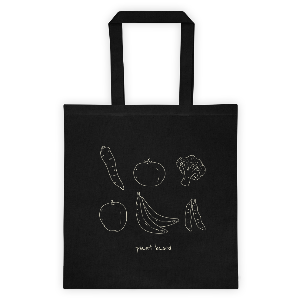 Plant Based Vegan Tote Bag