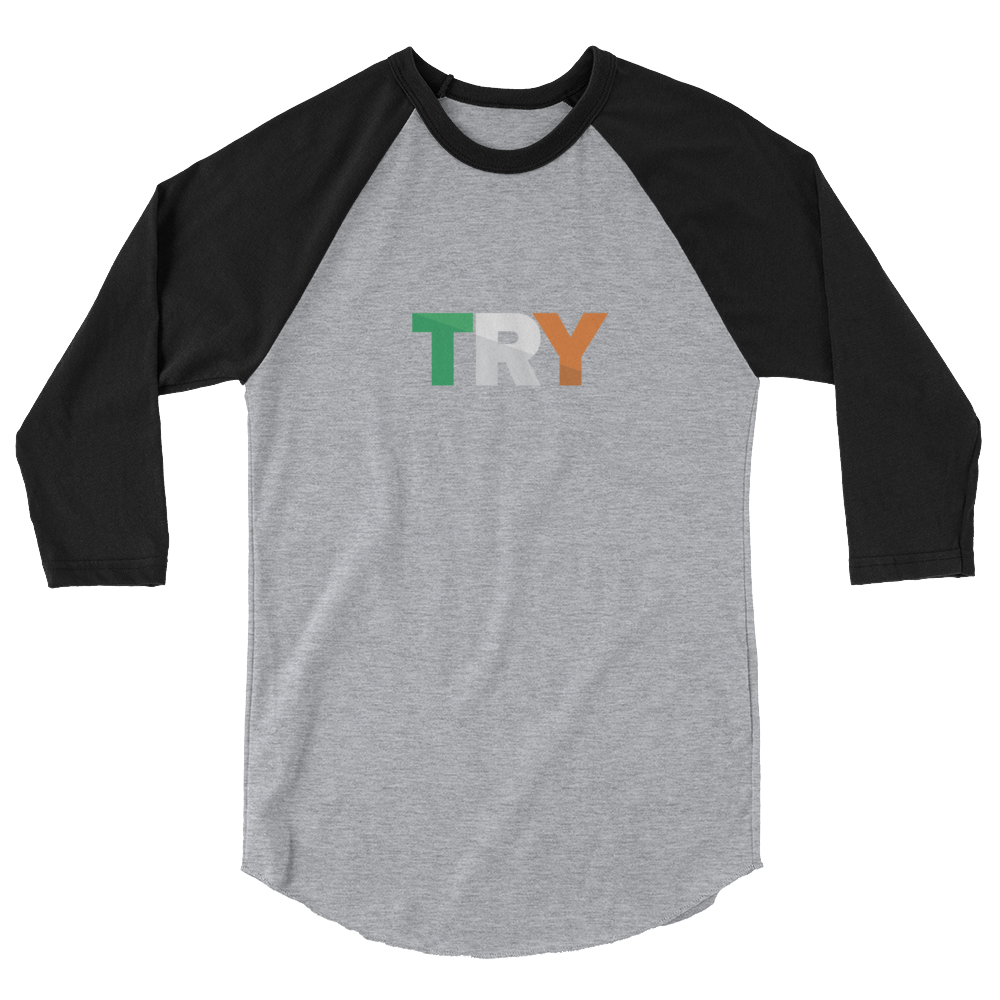 The TRY Channel  Try 3/4 sleeve raglan shirt