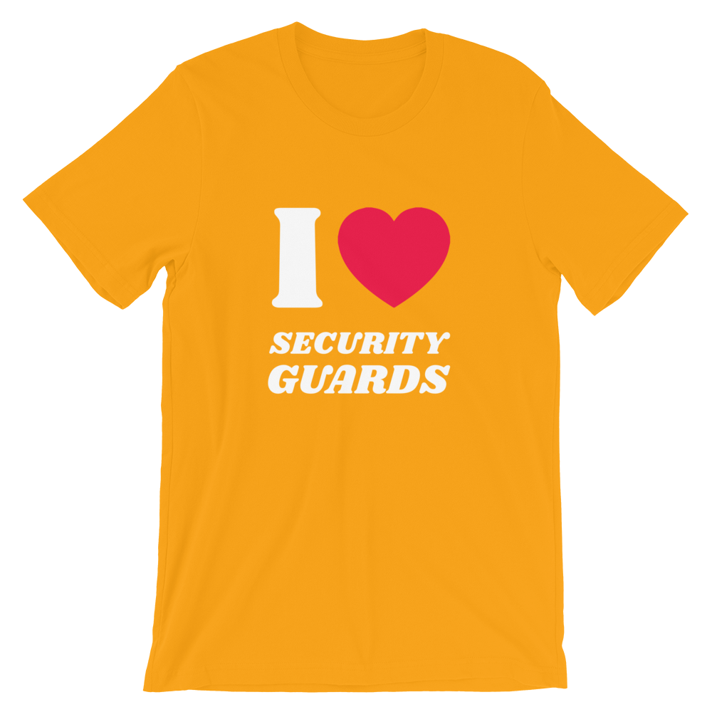 Magic Murray I Love Security Guards Short-Sleeve Unisex T-Shirt (Multiple Colors)