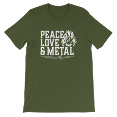Caleb Hyles Peace Love & Metal Unisex T-Shirt (Multiple Colors)