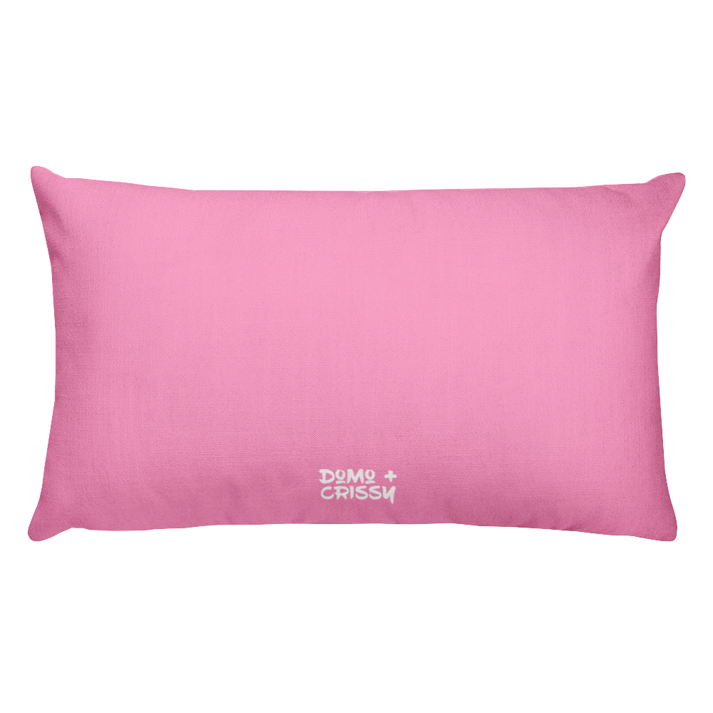 Domo & Crissy Pink Prank War Pillow
