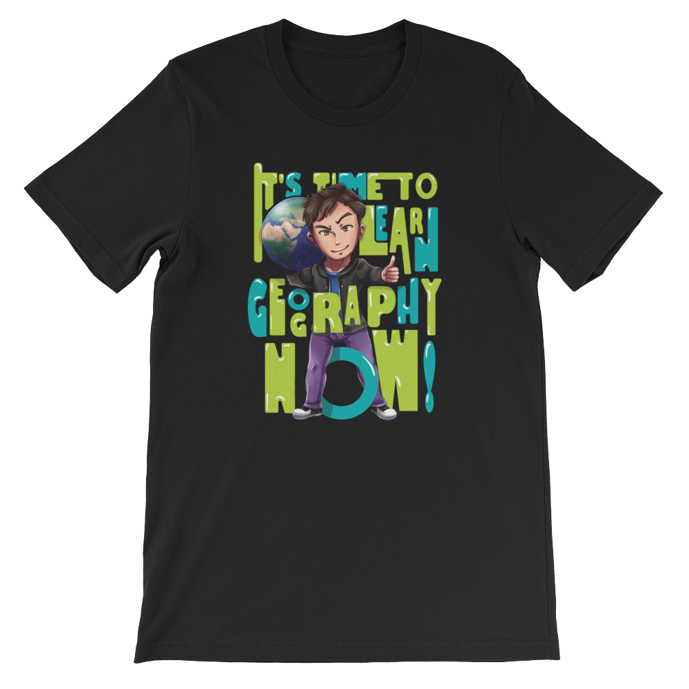 Geography Now Time To Learn T-Shirt (Unisex)