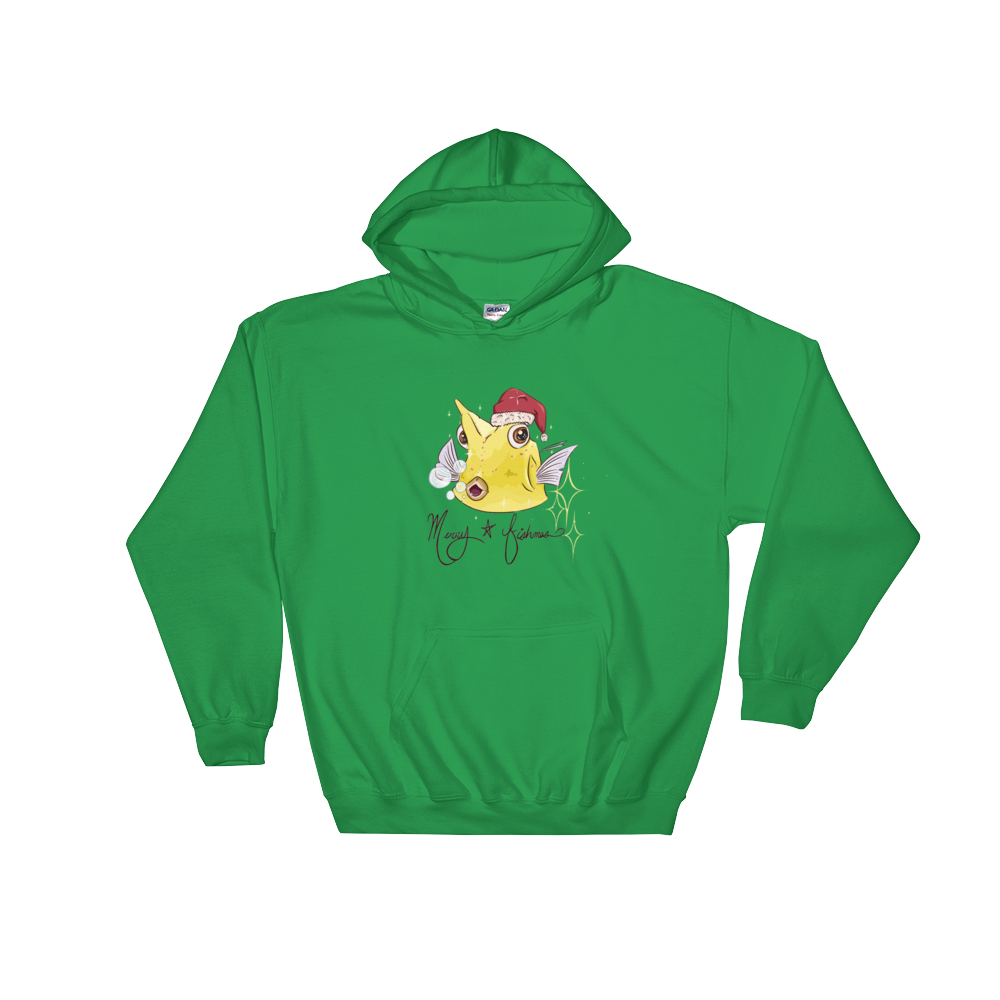 Taylor Nicole Dean Merry Fishmas Fan Art Hooded Sweatshirt