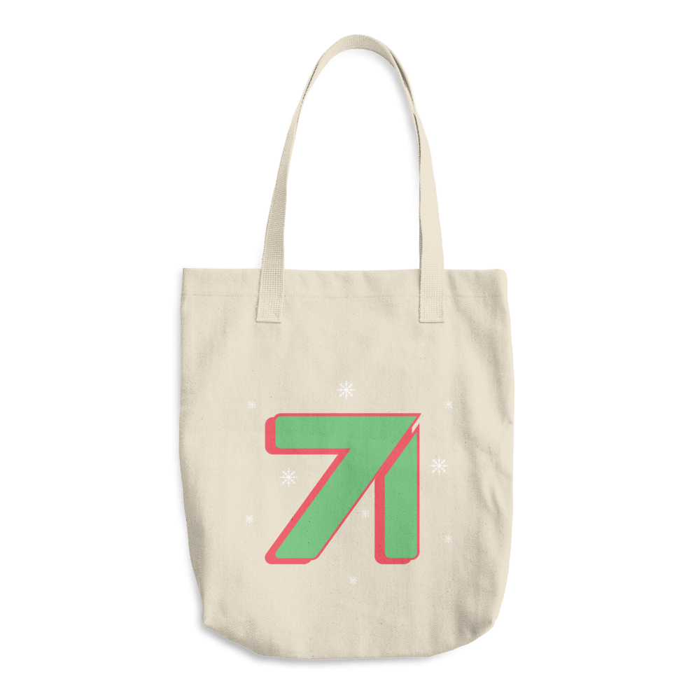 Studio71 Holiday Cotton Tote Bag