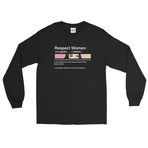 Frugal Aesthetic Respect Adult Long Sleeves Shirt (Unisex)