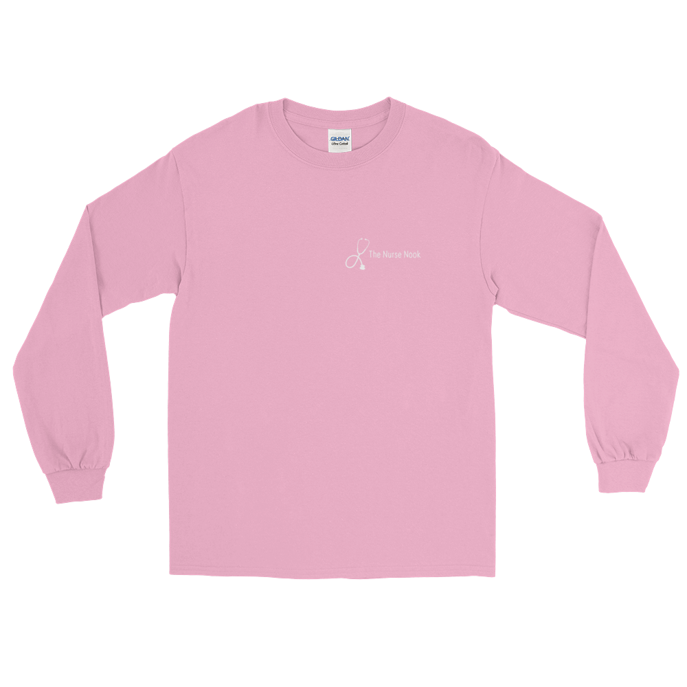 The Nurse Nook Breast Cancer Long Sleeve T-Shirt
