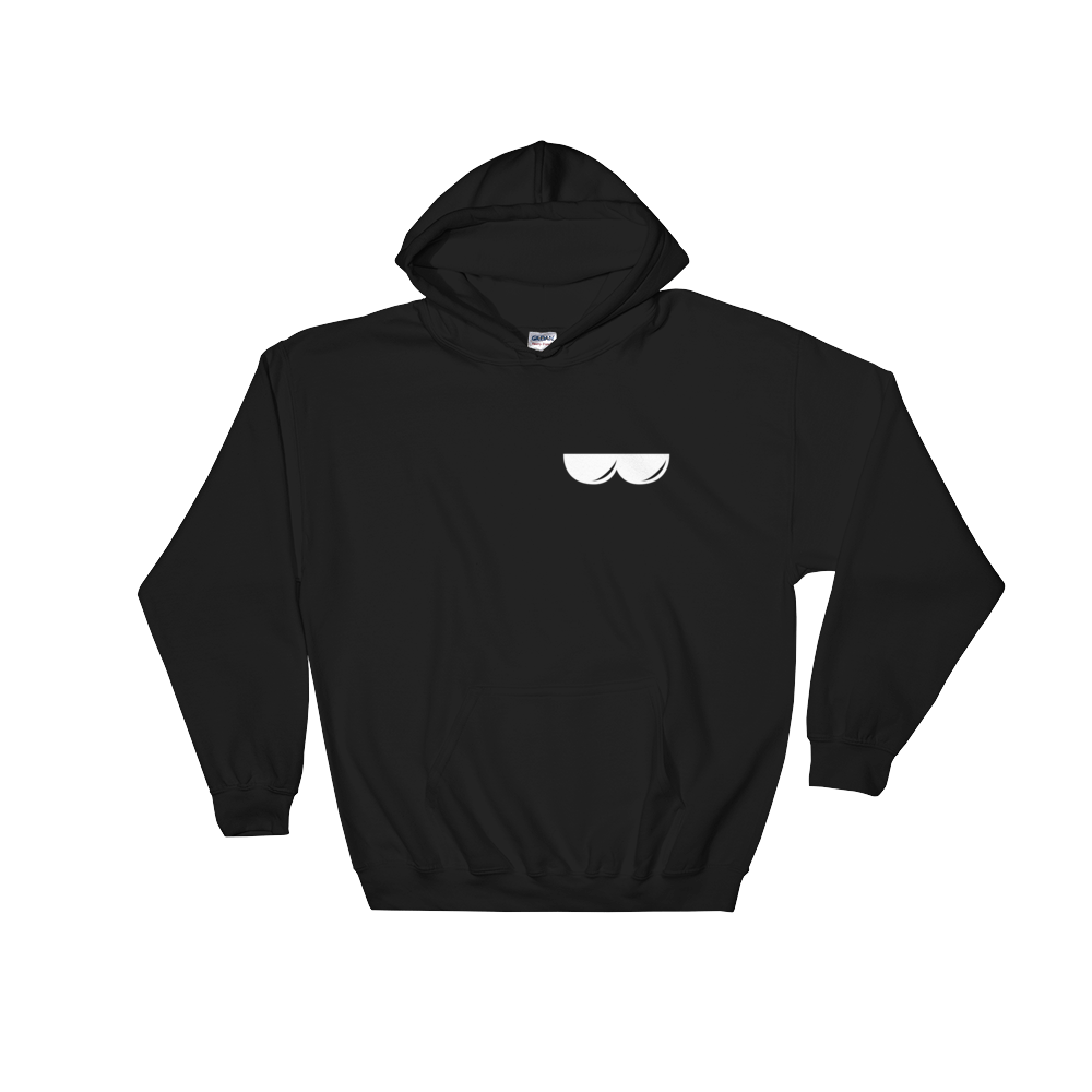 Ant Pocket Sunglasses Black Adult Hoodie (Unisex)