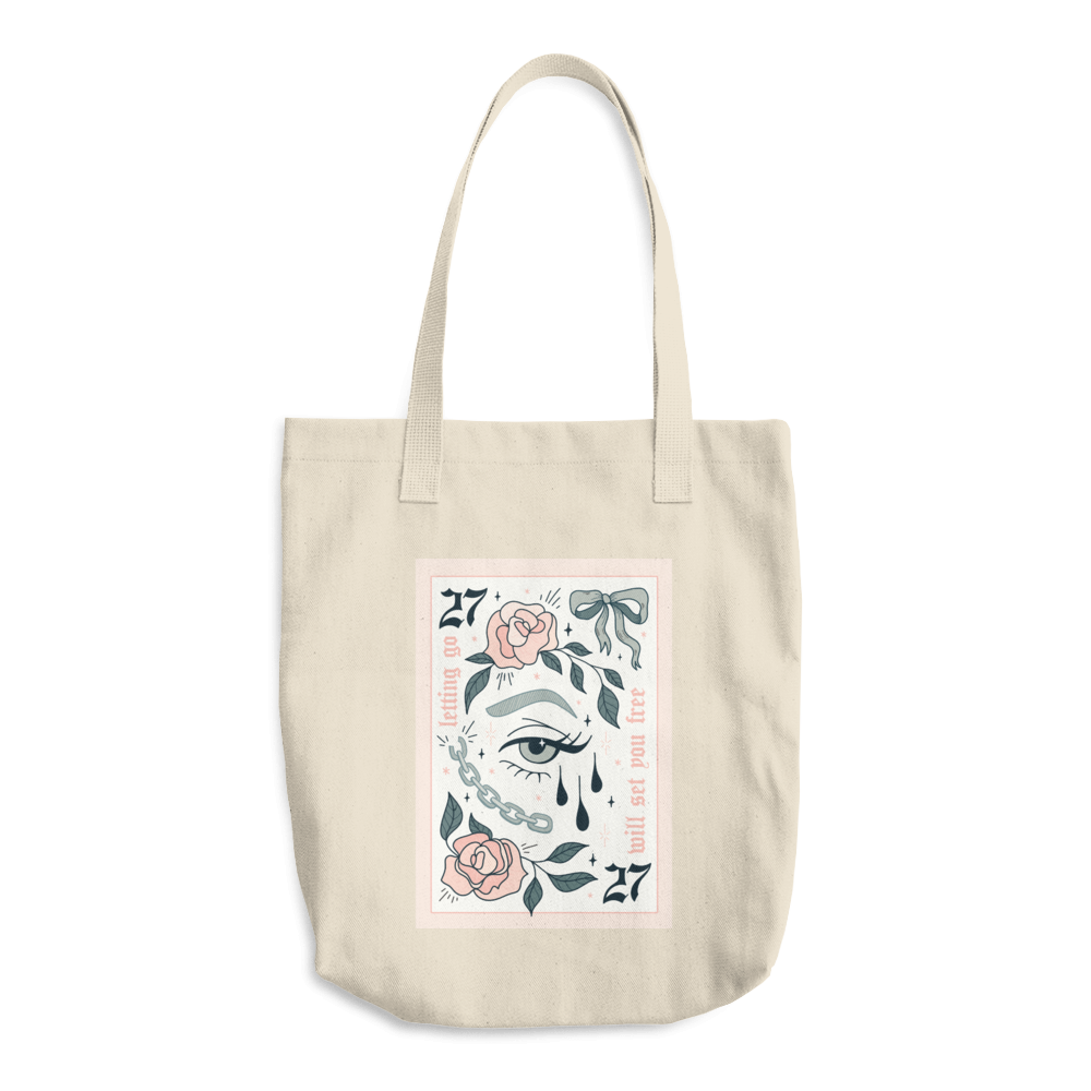 Lindseyrem Lucky Card Cotton Tote Bag