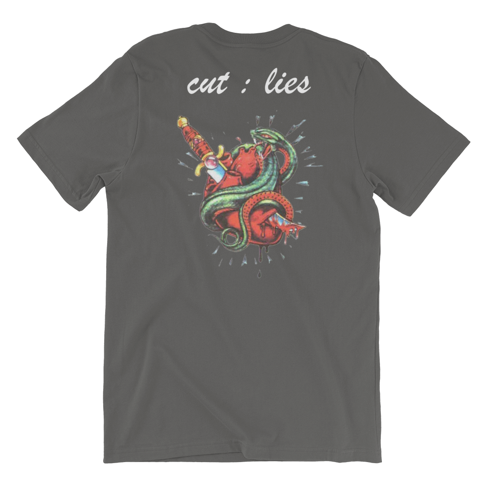 CeyNoLimit Cut Lies Short-Sleeve Unisex T-Shirt (Multiple Colors)