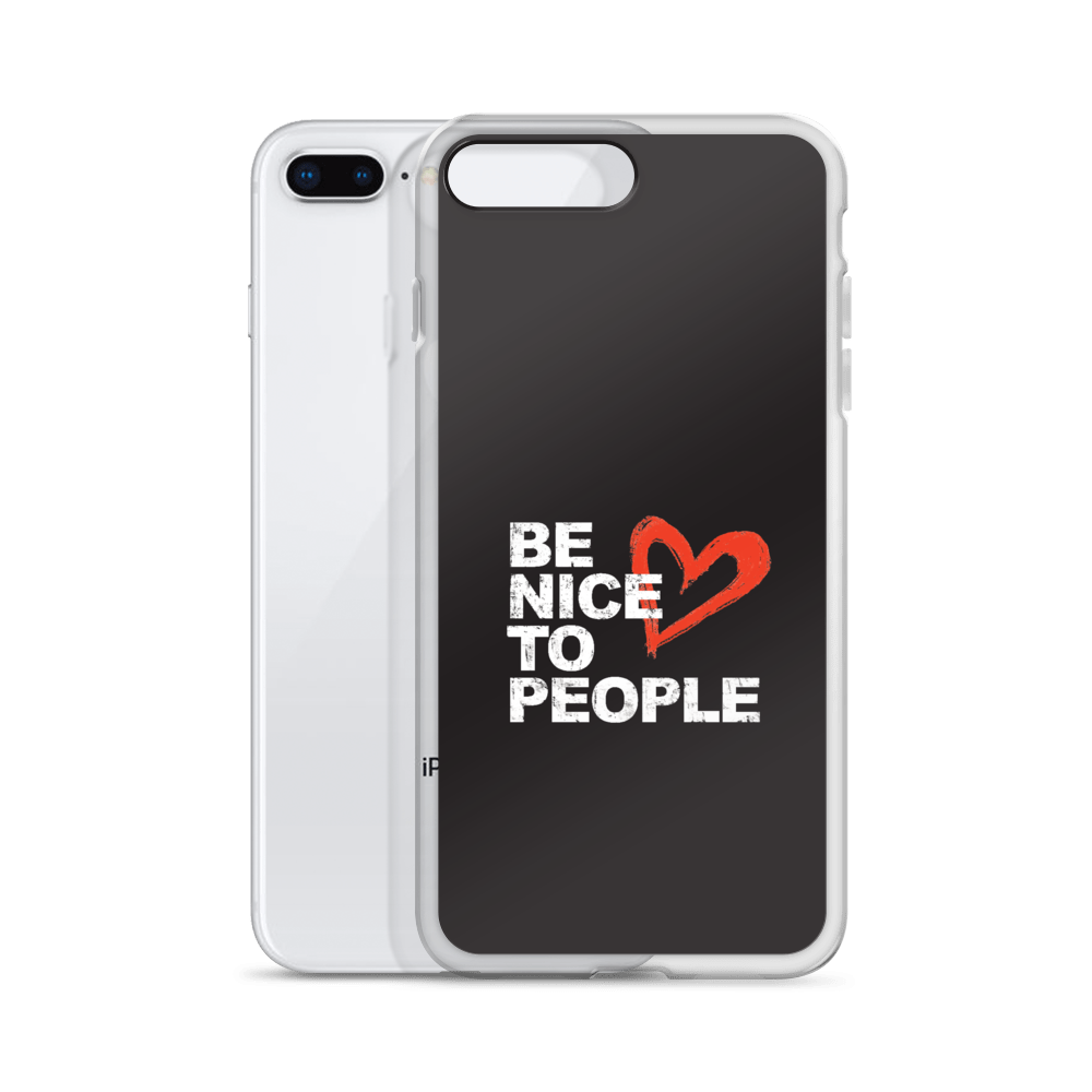Josh Evans Be Nice to People Black Phonecase (Multiple sizes)