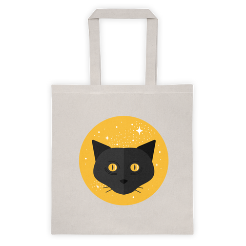 Black Cat Unisex Tote Bag