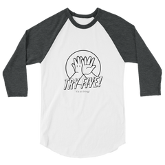 TRY Channel Try Five! 3/4 sleeve raglan shirt