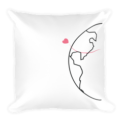 Long Distance Half Heart Basic Pillow