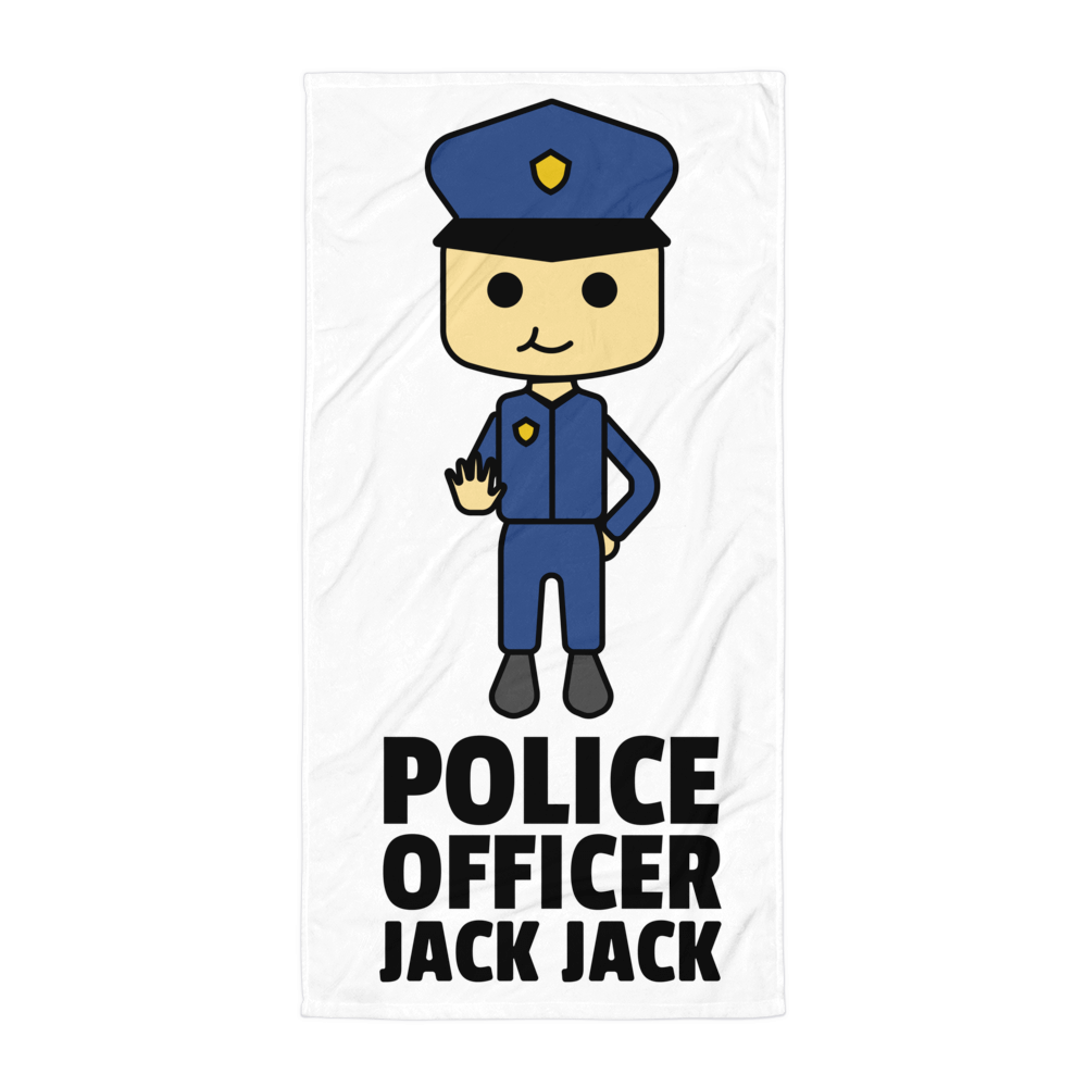 JackJackPlays Police Officer Towel