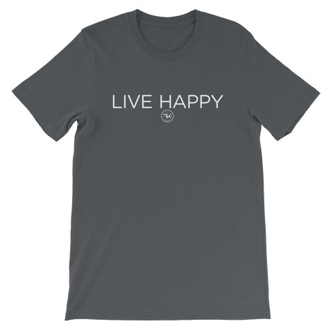 Flippin' Katie Live Happy Gray Adult T-Shirt (Unisex)