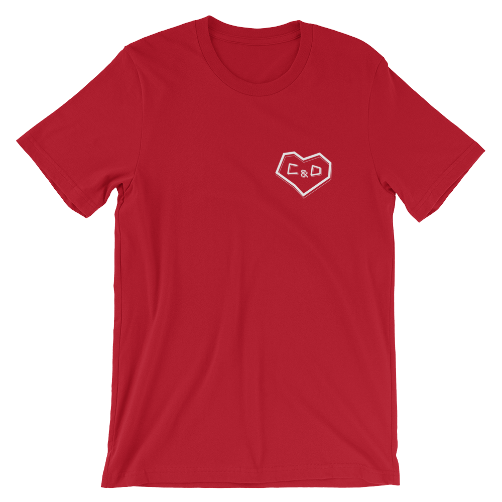 Corey Scherer C&D Valentine's Day Short-Sleeve Unisex T-Shirt (Multiple Colors)