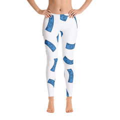 Davine & Bri Blue Bills Leggings