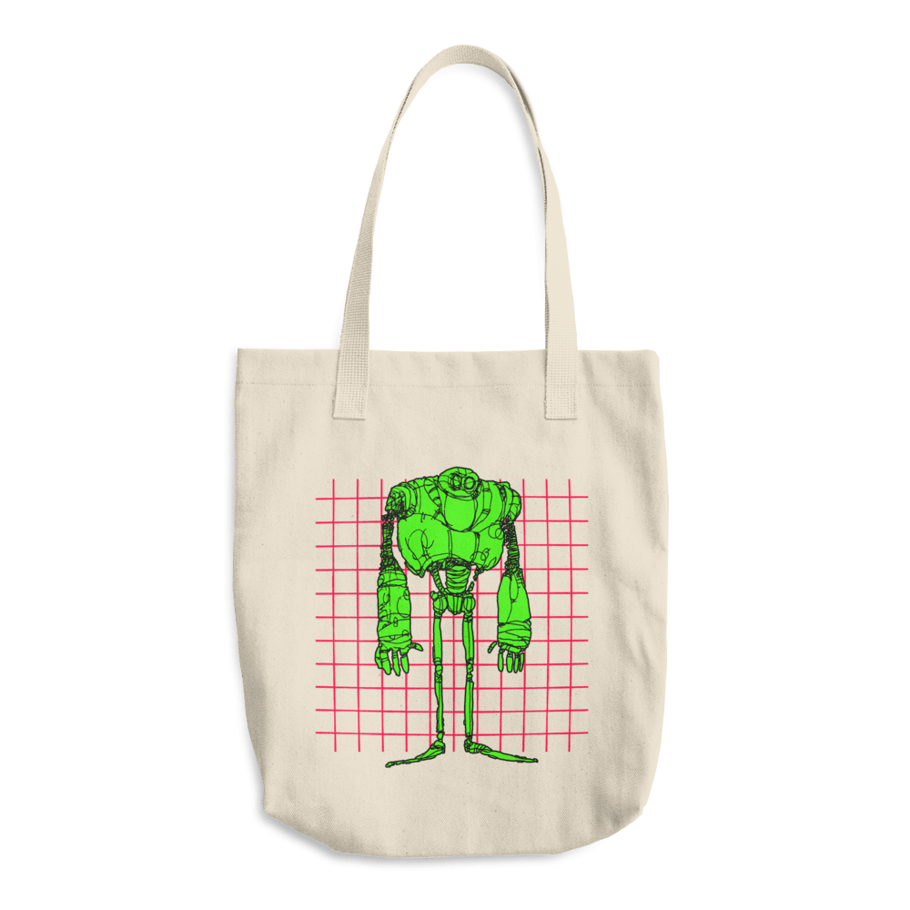 Weird Heat Mechazoid Data Matrix Cotton Tote Bag