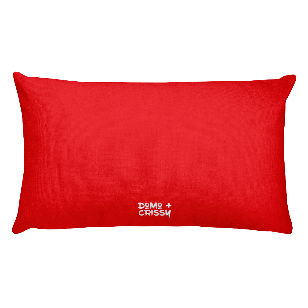 Domo & Crissy War Pillow Red