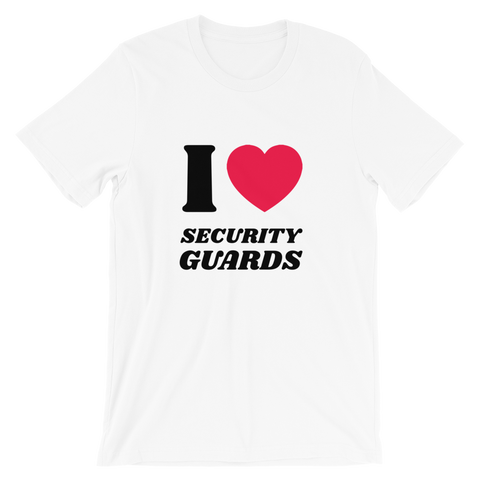 Magic Murray I Love Security Guards Short-Sleeve Unisex T-Shirt