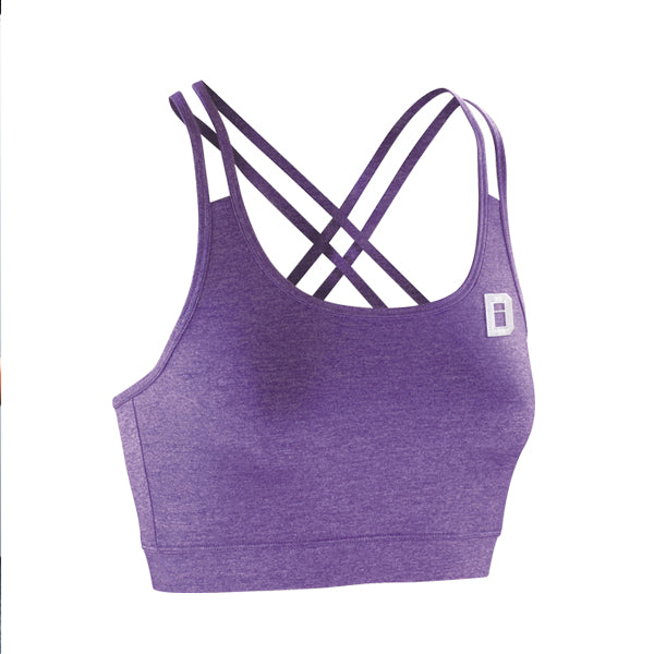 String Back Sports Bra Popsicle Purple