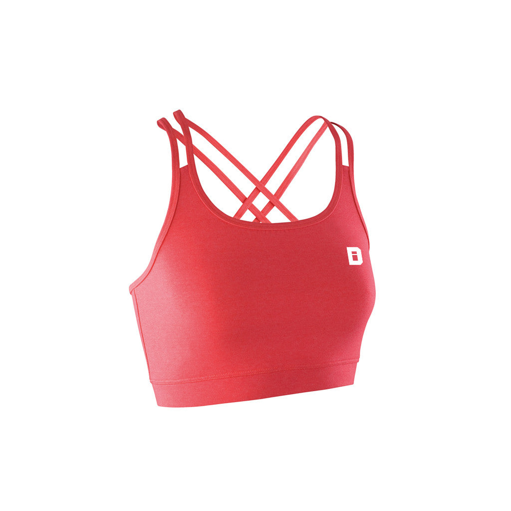 String Back Sports Bra Hot Pink