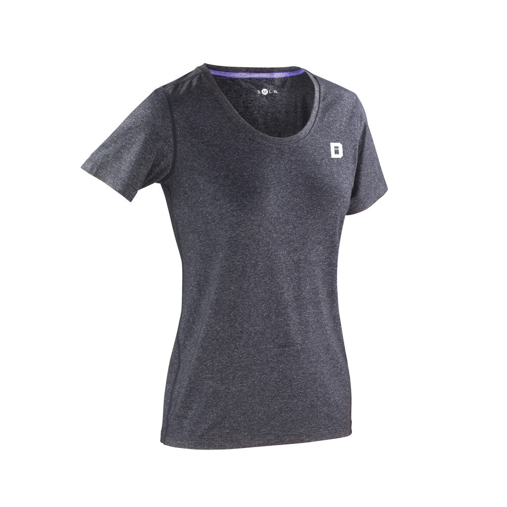 Defined Performance Tee Women - Charcoal