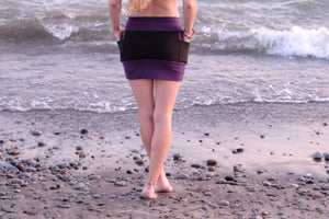 Side Pocket Mini Skirt-Hemp Fleece