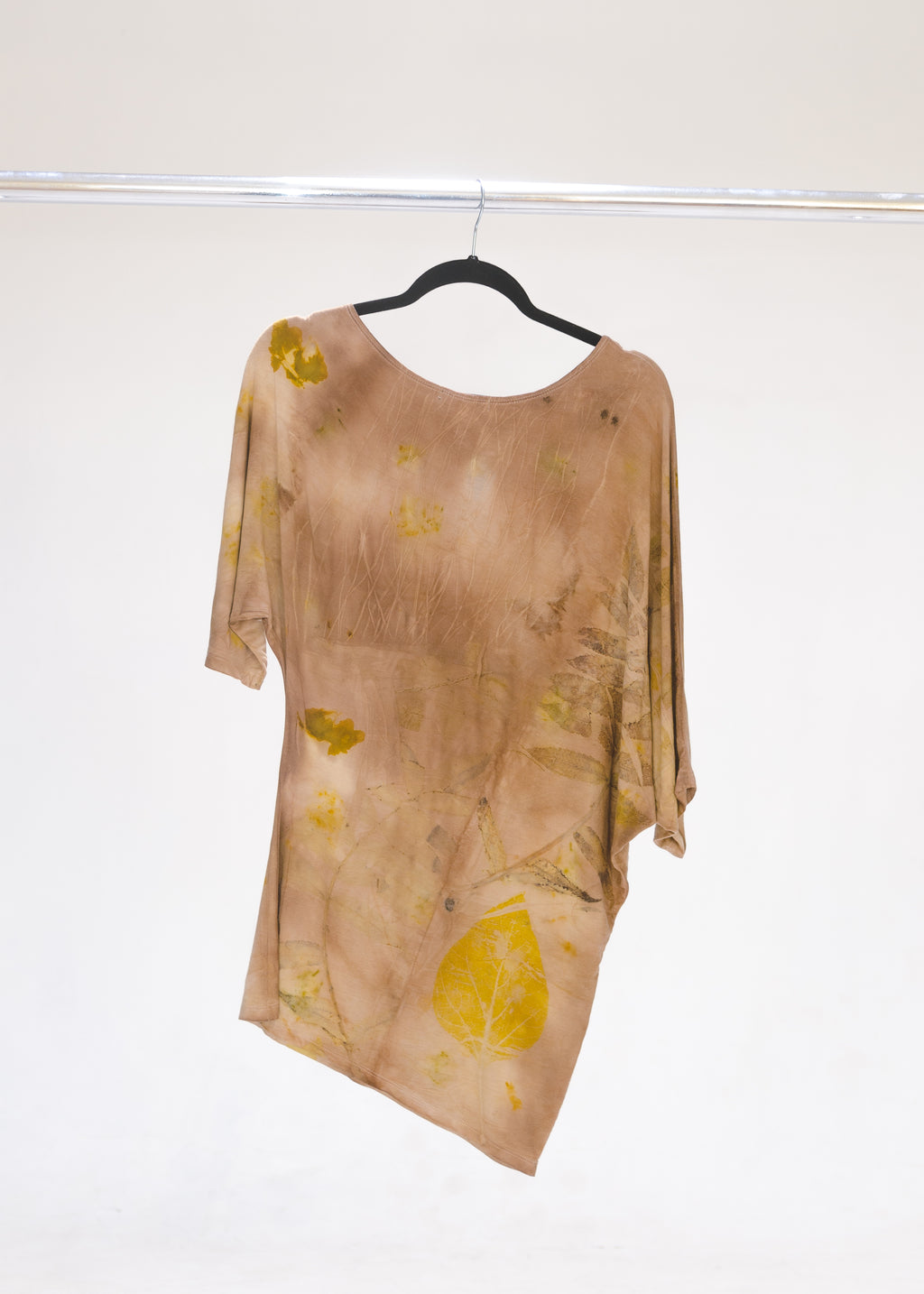 Mini Dress-Plant Dyed-Cutch/Eco-Print-Large