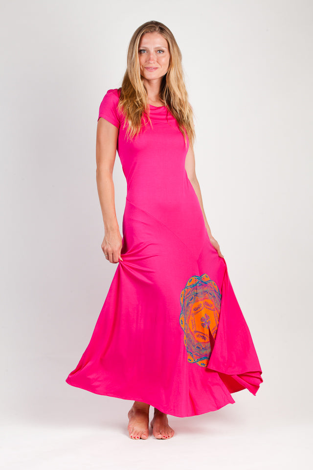 Maxi Dress-Boat Neck-Bamboo