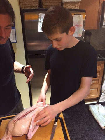 Kids Can Cook Gourmet - Breaking down a Duck