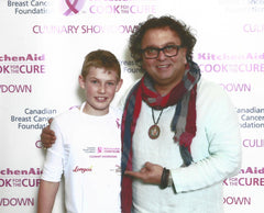 Skylar & Chef Vikram Vij at #cookforthecure