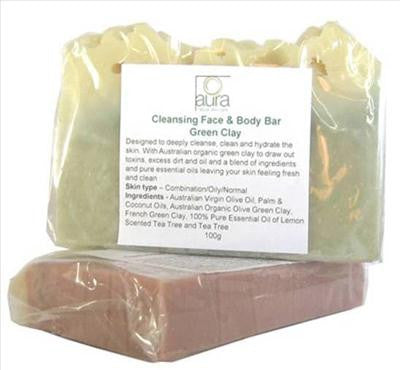Green Clay Cleansing Facial & Body Bar
