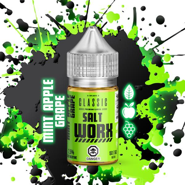 Salt Worx - Mint Apple Grape Salt Nic