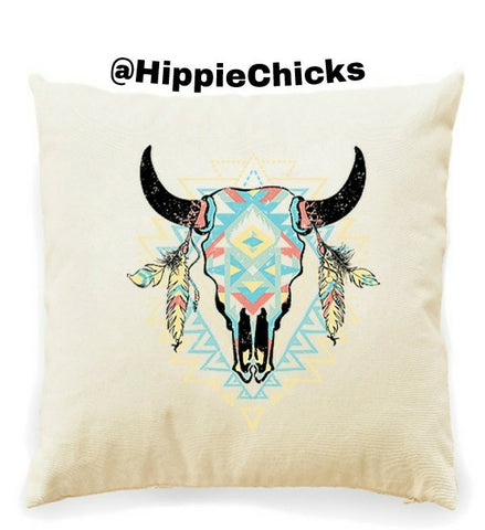 Steer Skull Decrative pillow