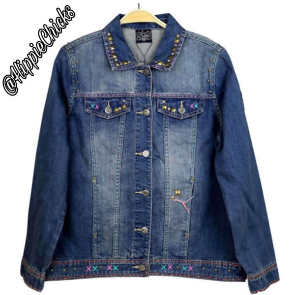 Jean jacket with Steer Skll
