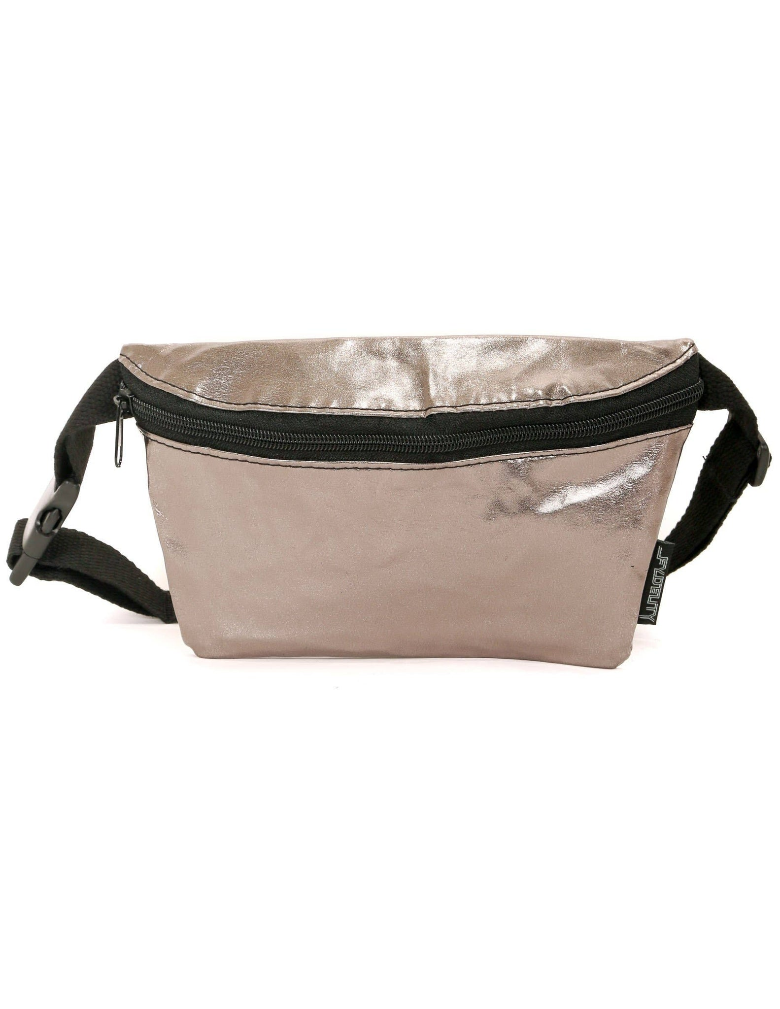 Fydelity - Metallic Gun Metal Ultra-Slim Fanny Pack