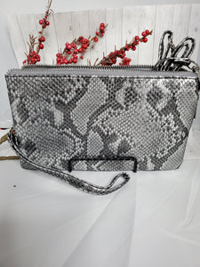 Python 3 Compartment Wristlet Crossbody