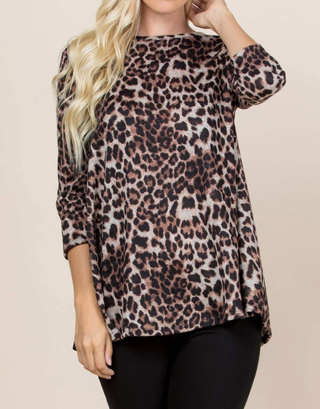 Leopard Swing Top