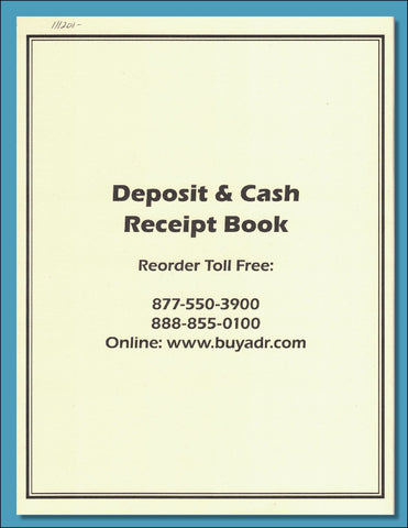 Deposit & Cash Receipt Book