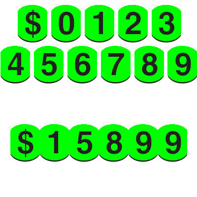 Vinyl Numbers (Bubble) - Black on Green