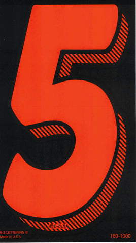 "Vinyl Numbers (7.5"") - Red on Black"