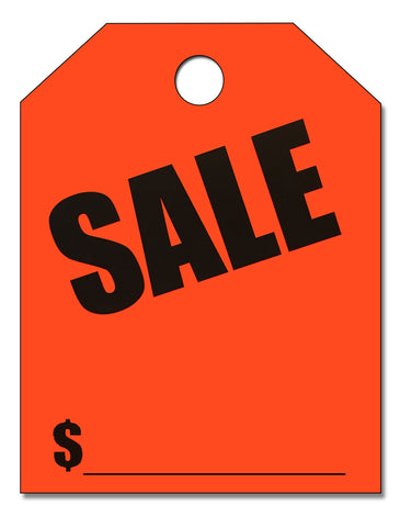 "Mirror Hang Tags - ""Sale"""