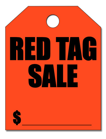 "Mirror Hang Tags - ""Red Tag Sale"""