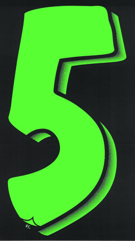 Vinyl Numbers (7.5) - Green on Black