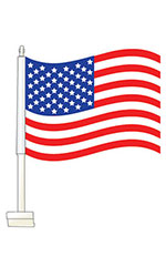 "Clip-On Flag ""USA"""